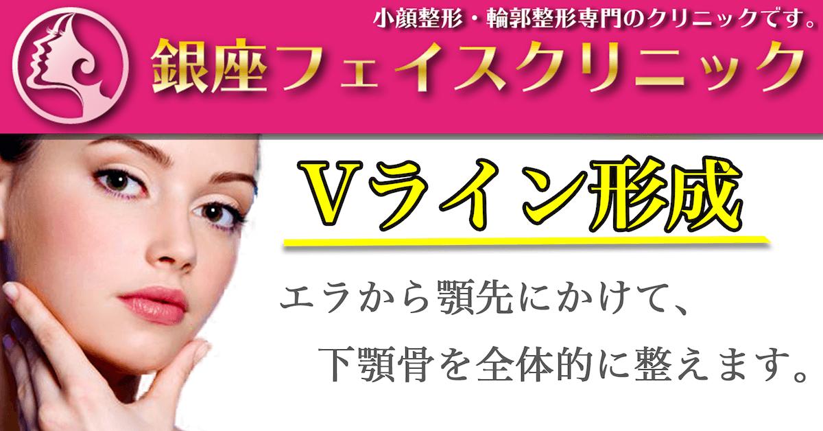 Vライン形成のトップ画像|東京銀座の小顔・輪郭美容整形「銀座フェイスクリニック」